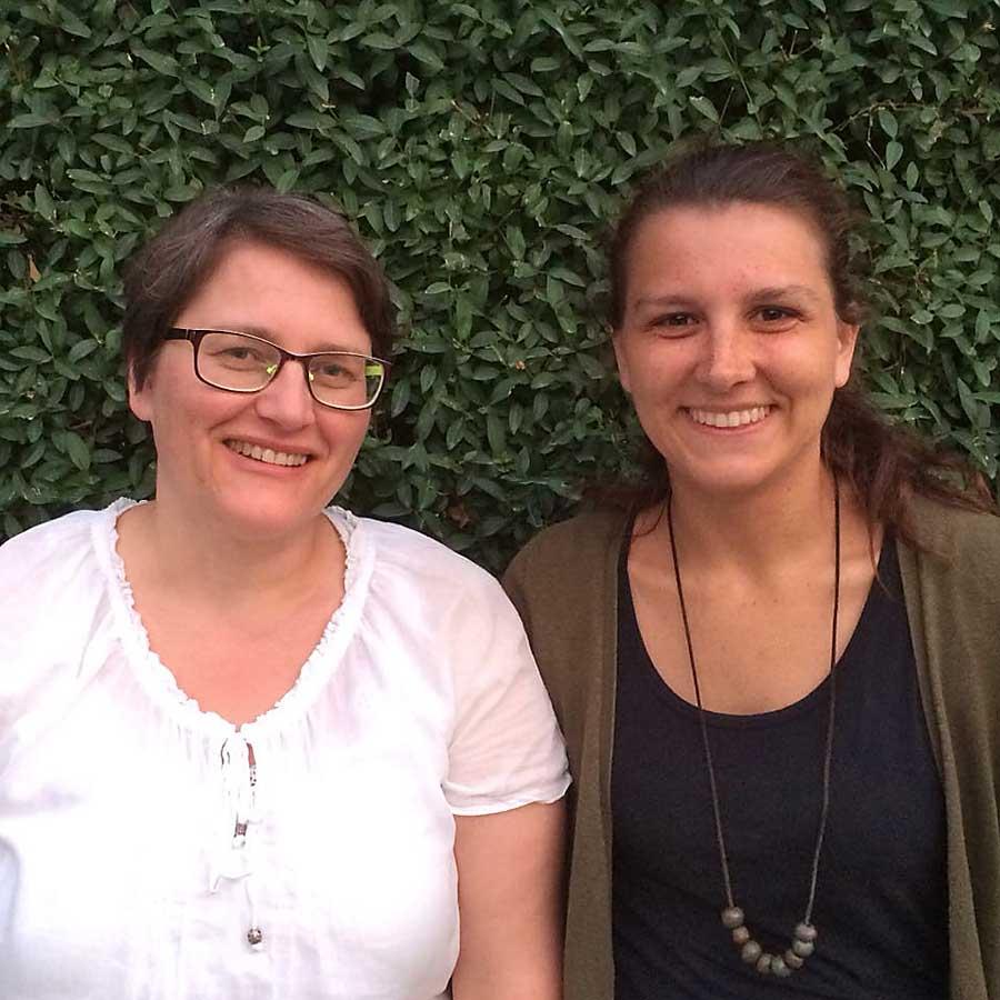 Team Pforzheim: Diana Kehrhahn und Anna-Lena Wissing