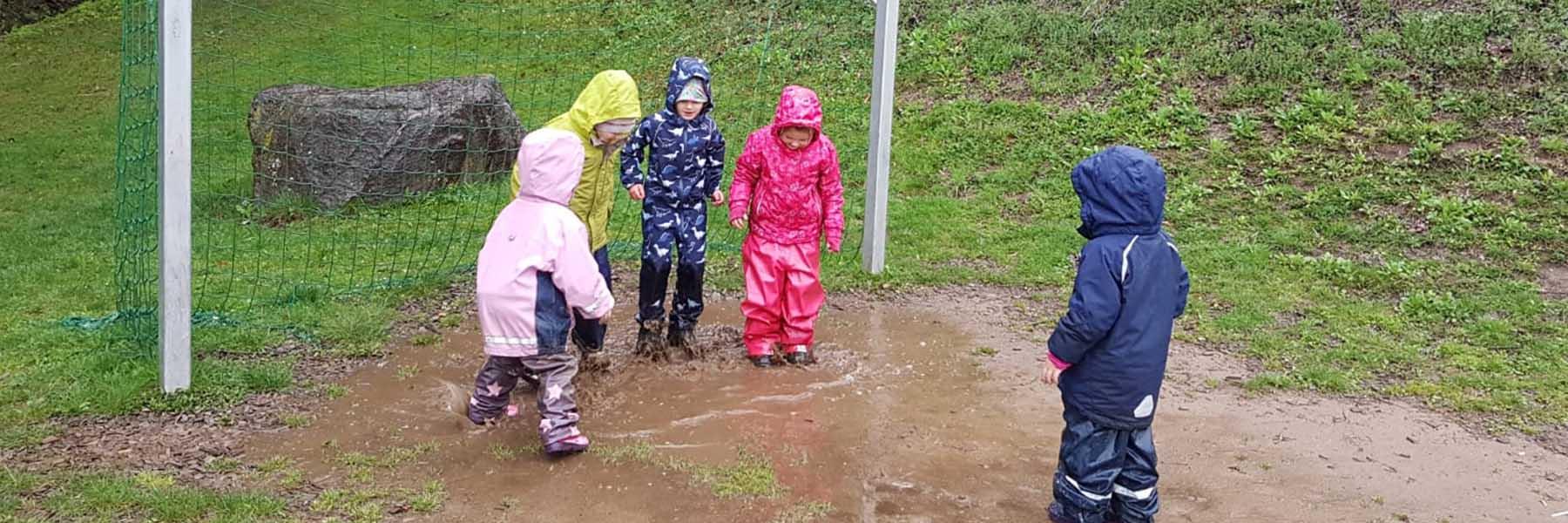 Spielen auch bei Regen