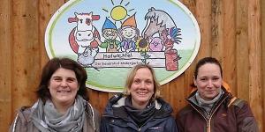 v. re.: Annkatrin Rusch (Leitung), Julia Claussen (Erzieherin), Tanja Mumm (Sozialpäd. Assistenz)