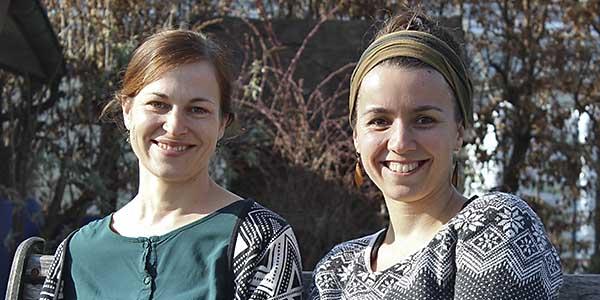 v. li.: Lara Savelsberg (Leitung), Larissa Schweizer (Stv. Leitung)