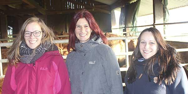v. li.: Julia Oeschger, Barbara Volle und Alexandra Stokar von Neuforn