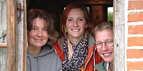 v. li.: Elvira Elsberg (Sozialpäd. Assistenz), Marie Manke (Leitung), Imke Loop (Erzieherin)