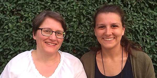 Team Pforzheim: Diana Kehrhahn (Stv. Leitung), Anna-Lena Wissing (Leitung)