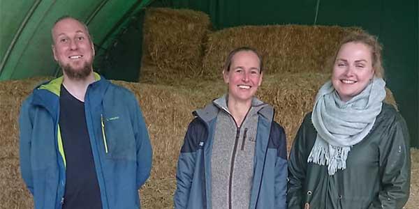 Team Großbarkau, v.l.: Markus Graemer, Mona Klaunig (Leitung), Elisa Maria Gebben