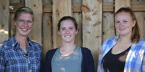 Team Rendswühren (v.l.): Imke Loop, Marie Manke (Leitung), Dawina Mohr